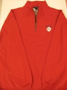 SWEATSHIRT - SJB 1/2 ZIP-Red